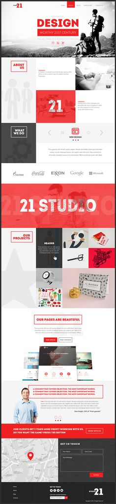21 Studio-Creative One Page Template