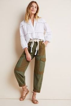 Citizens of Humanity Colorblocked Cargo Pants by in Green Size: Women's at Anthropologie Grey Cargo Pants, Jogger Pants, Spanx Faux Leather Leggings, Parka Style, Pants For Women, Clothes For Women, Seamless Leggings, Denim Fashion, Sporty Fashion