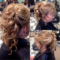 pinned up curly hairstyle for mothers of brides
