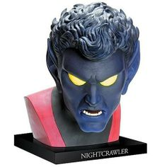 Alex Ross Nightcrawler Life-Size Bust by Upper Deck. $199.99. Life Size Bust. Bamf! Kurt Wagner was a circus performer in Germany - and, as a mutant with midnight-blue fur, pointed ears, fangs, and a tail, he was also a circus freak. Kurt looked like some sort of demon, and was feared and reviled by small-minded people everywhere he went. Then, rescued by Professor Charles Xavier, Kurt agreed to join the new X-Men and became the mutant superhero Nightcrawler! ...