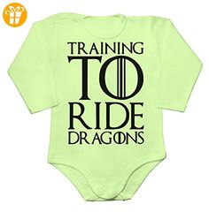 Training To Ride Dragons Baby Long Sleeve Romper Bodysuit Extra Small - Baby bodys baby einteiler baby stampler (*Partner-Link)