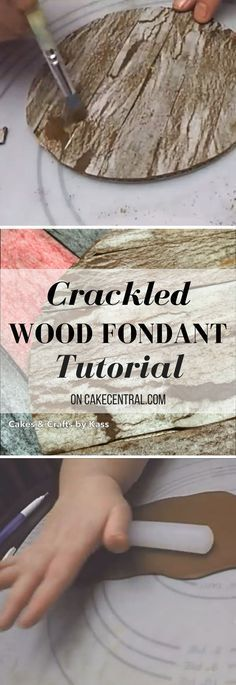 I this video I will show you how to create a realistic, textured and easy weathered fondant technique using wafer paper. I used this...