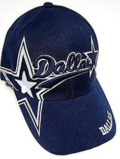Dallas City Blue Hat Cap Script Visor Embroidered Signature Double Cowboys  Star in Sports Mem 0d8ae35fb