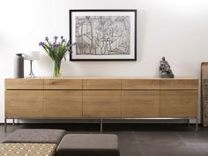 Solid wood sideboard with doors and drawers Solid wood sideboard Oak Ligna Collection by Ethnicraft