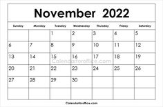 Printable Calendar 2022 November.58 2022 Calendar Ideas Calendar Calendar Template Calendar Printables