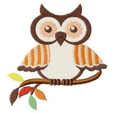 Autumn Owls Machine Embroidery Design Set, This would be cute on a pillow!