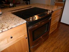 Kitchen Island With Slide In Stove image result for small kitchen island with cooktop | kitchen reno