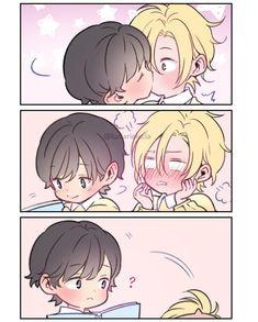 Cute ('∀ `) © ︎sugaaberry # yaoi # yaoi love # yaoicouple # yaoisoft Related posts: Both are cute and both need to be protected. All Out Anime, Anime Guys, Otaku Anime, Manga Anime, Chibi, Kissing Scenes, Yuri On Ice, Cute Gay, Anime Ships