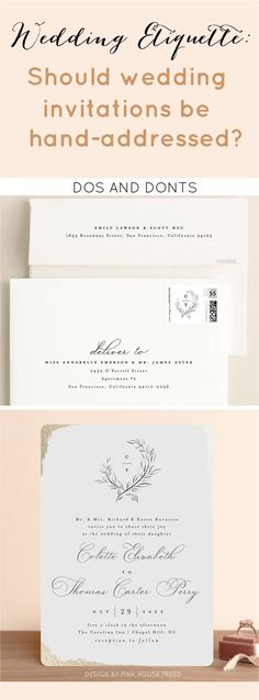 What is the proper etiquette? Should you hand address wedding invitations? Tap link for the DOS and DONTS.