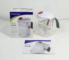Progressive Micro Kettle Whistling Teakettle Microwave Clear MK-100 Plastic NIB #Progressive