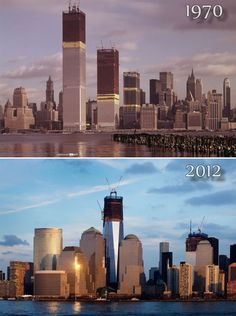 World Trade Center construction - then & now