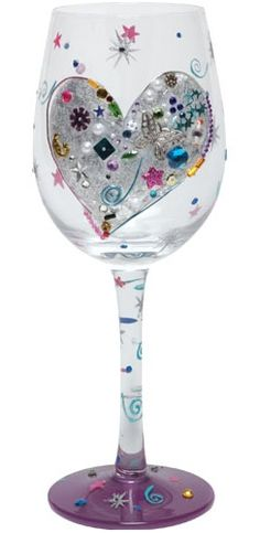 Got my first Lolita Wine Glass today - Silver Lining - gorgeous!  Another addiction is born...