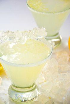 Sparkling Lemon Drop Martini 1 ½ ounces lemon vodka 2 ounces fresh lemon juice Pinch sugar or liquid stevia, optional 2 ounces sparkling water 1 lemon wedge Sugar for rimming Party Drinks, Cocktail Drinks, Fun Drinks, Mixed Drinks, Beverages, Vodka Cocktails, Cocktail Shaker, Refreshing Drinks, Lemon Vodka