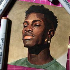 Ideas painting portrait ideas creative design inspiration for 2019 Kunst Inspo, Art Inspo, Art Sketches, Art Drawings, Art Et Design, Wal Art, Posca Art, Arte Sketchbook, Portrait Art