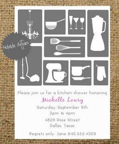 Chic style Kitchen Shower Invite! Bridal Shower Invite Ideas | Confetti Daydreams ♥  ♥  ♥ LIKE US ON FB: www.facebook.com/confettidaydreams  ♥  ♥  ♥  #Wedding #BridalShower #Invites #Invitations