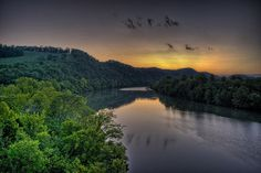 Sunset over the Cumberland River, Gainesboro, TN, via Flickr.