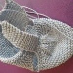 Knitted Baby Shoes - Capital Of Fasion Baby Knitting Patterns, Baby Booties Knitting Pattern, Crochet Baby Boots, Knitted Baby Cardigan, Knit Baby Booties, Knitted Baby Clothes, Baby Hats Knitting, Crochet Shoes, Crochet Slippers