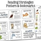 Reading Strategy Freebie Posters & Bookmarks Chunky Monkey Lips the Fish Stretchy Snake Tryin' Lion Flippy Frog Skippy Dolphin Reading Strategies Posters, Decoding Strategies, Comprehension Strategies, Reading Groups, Reading Resources, Reading Skills, Guided Reading, Teaching Reading, Reading Comprehension