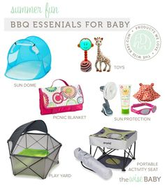 BBQ Essentials for Baby - a few essentials to make your weekend BBQ more fun foe you and your little one!