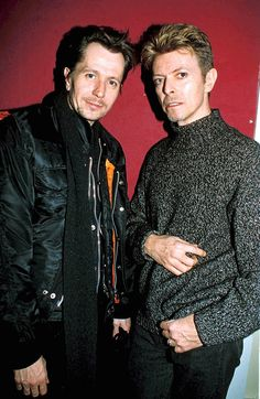 Gary Oldman & David Bowie--Holy hell! Both men are amazing in every way, and they're in the same picture!!