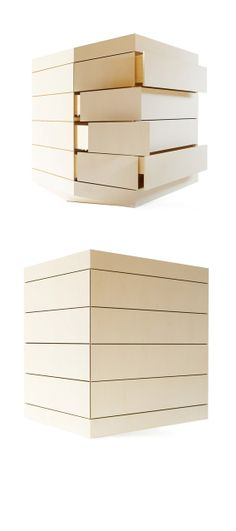 PERSPICERE -  wood commode, made as an optical illusion - a cube perspective. Made by Janis Straupe $28649.25   1EUR=1.36380 USD