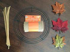 guirnaldas-de-navidad-materiales-necesarios-para-hacer-corona-navideña-hojas-otoñales-cuerda-limpiador-pipas