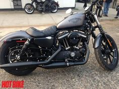 """We take a quick rip through """"Rip City"""" on the Harley-Davidson Sportster Forty-Eight and Iron 883 #harleydavidsonbobbersfortyeight"""