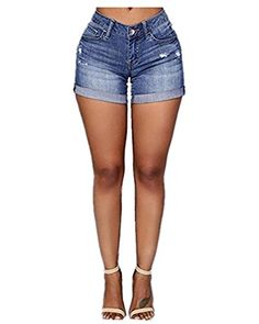 af04ccb0019 Women s Denim Shorts - Huiyuzhi Summer High Waist Casual Woman Denim Shorts  Sexy Jean Shorts -- Find out more about the great product at the image link.