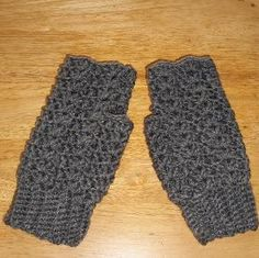 Ladies Lacy Fingerless Gloves  Grey Heather  by grannyscraftattic, $20.00