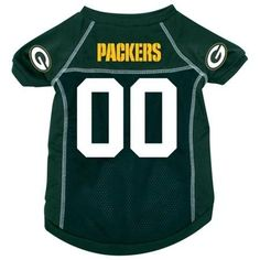 Green Bay Packers Deluxe Dog Jersey - Small  15% Discount - Use code DOGGIE at Checkout   http://www.gingersdoggieheaven.com #GreenBayPackers 15% Discount - Use code DOGGIE at Checkout