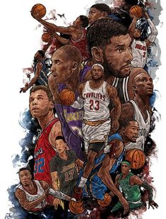 22 NBA Stars Collage Illustration More basketball birthday party nba youngboy quotes Basketball Workouts, Basketball Pictures, Basketball Legends, Sports Basketball, Basketball Players, Basketball Quotes, Basketball Shirts, Basketball Cookies, Basketball Room