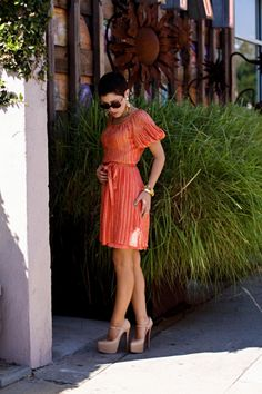 louboutins and summer dresses
