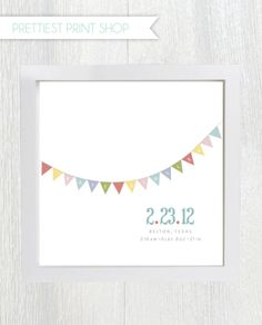Printable nursery art - Baby Birth Announcement - Wall Art - Customizable. $10.00, via Etsy.