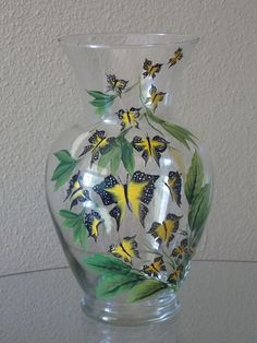 Hand painted vase (painted by Helen Krupenina)