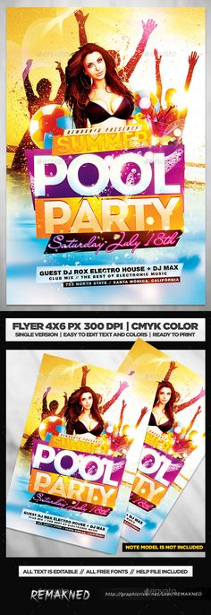 Edm Electro House Music  Flyer Template Psd  Discover More Ideas