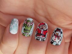 #Christmas #nails #nailart #santa