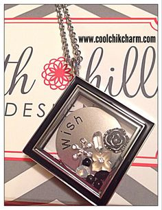 Our new diamond locket - silver tone with black enamel.  South Hill Designs has partnered with Make-A-Wish to help children's wishes come true!
