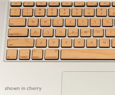 Bring the tactile beauty of wood to your keyboard with Lazerwood Keys! Created to perfectly compliment the sleek style of Apple's MacBook Pro keyboards.