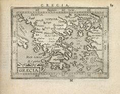 Antique Map of Greece (1603) by Abraham Ortelius by BlueMonoclePrints on Etsy, $20.00