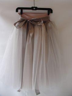 Dusty Rose Tulle Skirt. $140.00, via Etsy.