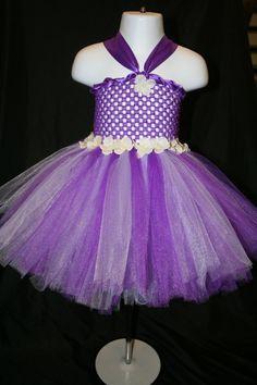 Purple and Lilac Flower Tutu Dress Tutu by LittleMissTrendyTutu,From $22.00