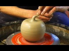 Making / Throwing a ceramic clay pottery Apple on the wheel - YouTube
