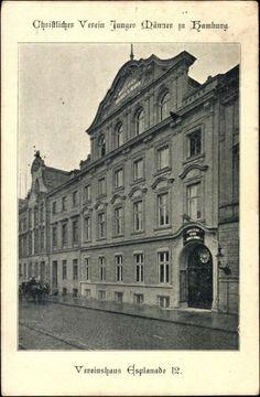 #Alte #Ansichtskarten und alte #Postkarten #Hamburg Hamburg, Christlicher Verein junger Männer in Hamburg