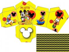 Caixa Casinha Festa Mickey Mouse