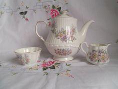 Vintage Irish Teapot Royal Tara Bone China Tea by MusesVintage