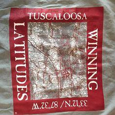 Longitude/Latitude tee for Tuscaloosa - on Comfort Colors!