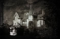 FREE US Shipping haunted house dark art haunting eerie architecture photography halloween secrets home decor black and white photography