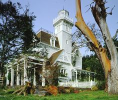 Exterior of the house from the movie Practical Magic.  Seaward side.