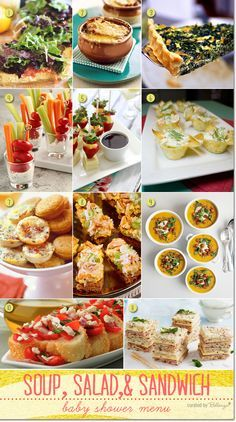 Simple Baby Shower Menu Ideas With Soup, Salad, And Sandwiches With French  Onion Soup