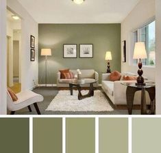 Awesome Living Room Paint Colors Ideas with Photos Beautiful small living room color schemes that will make your room look professionally designed for you that are cheap and simple to do. Good Living Room Colors, Living Room Color Schemes, Living Room Green, Home Living Room, Living Room Designs, Interior Paint Colors For Living Room, Painting Living Rooms, House Color Schemes Interior, Painting Walls